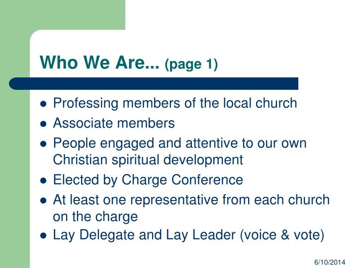 Who We Are...