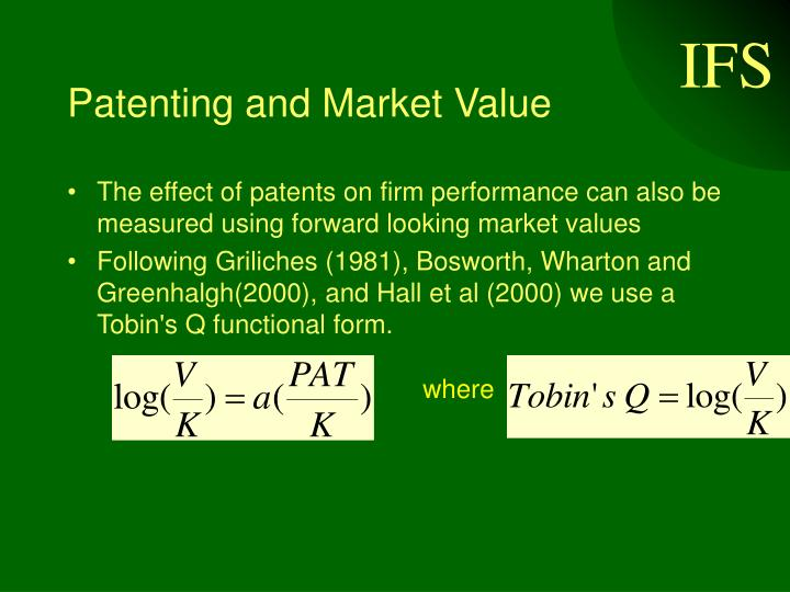 Patenting and Market Value