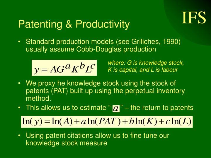 Patenting & Productivity