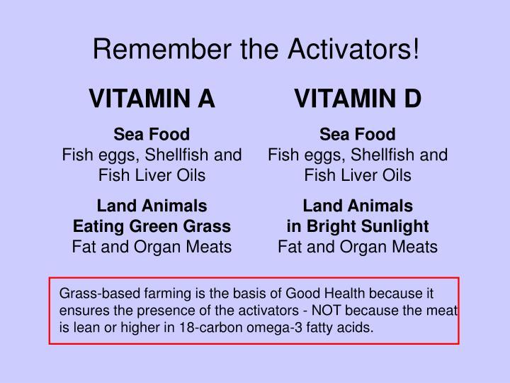 Remember the Activators!