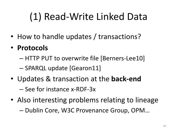 (1) Read-Write Linked Data