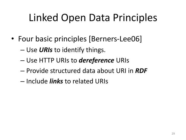 Linked Open Data Principles