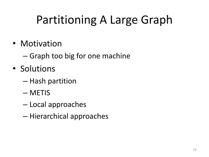 Partitioning A Large Graph