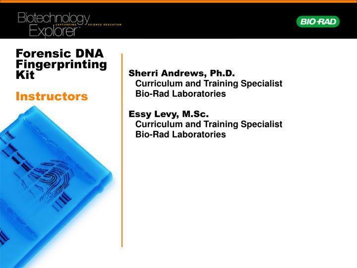 Forensic DNA Fingerprinting Kit