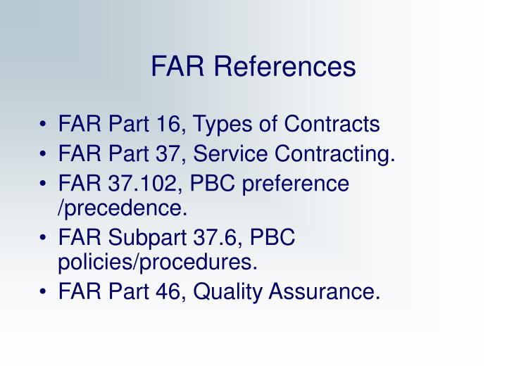 FAR References