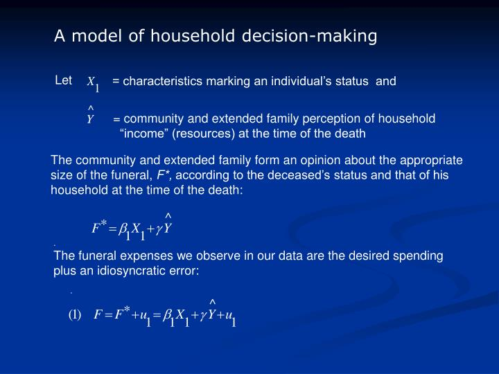 A model of household decision-making