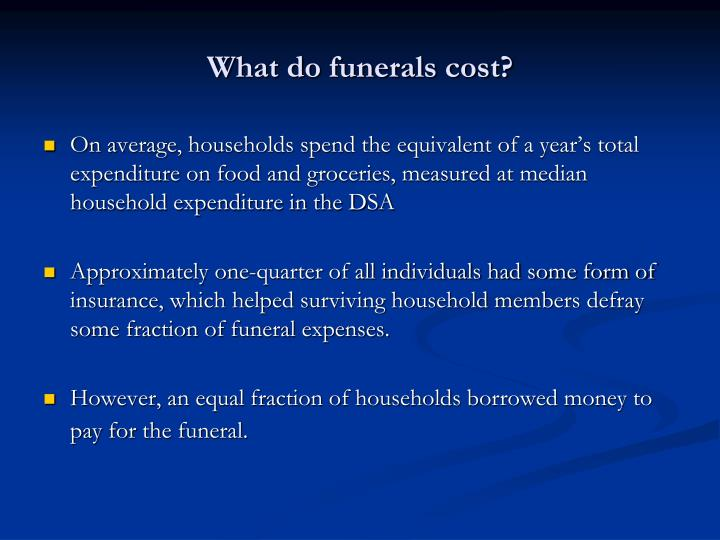 What do funerals cost?
