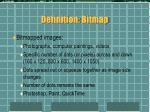 definition bitmap