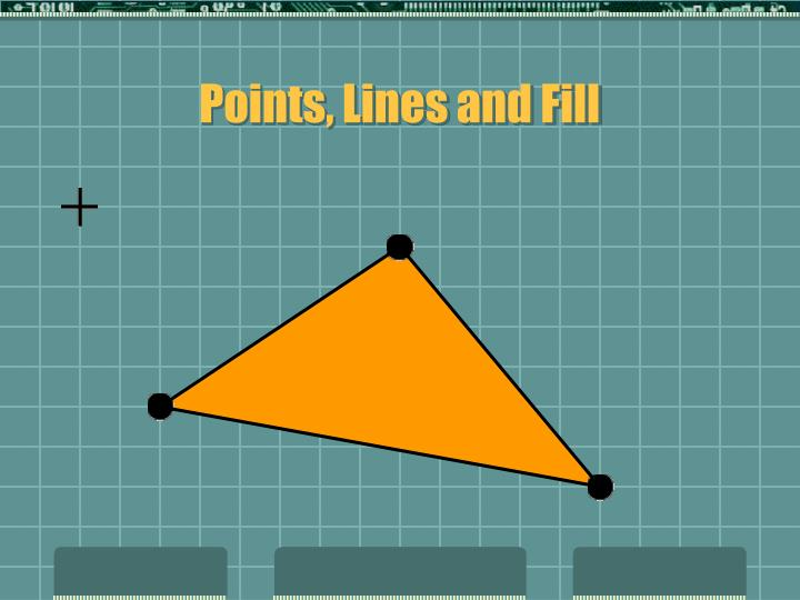 Points, Lines and Fill