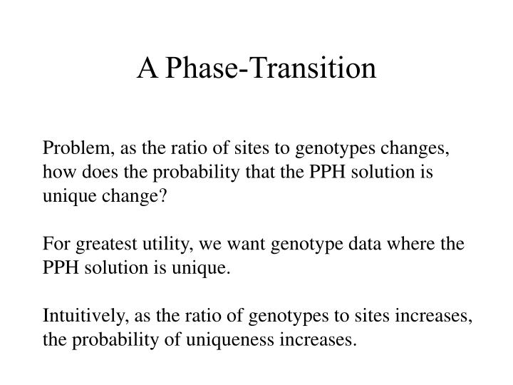 A Phase-Transition