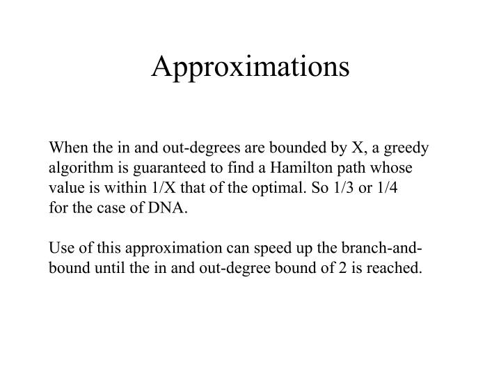 Approximations