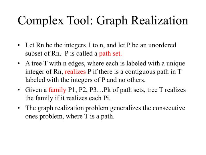 Complex Tool: Graph Realization