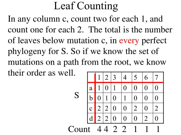 In any column c, count two for each 1, and