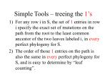 simple tools treeing the 1 s