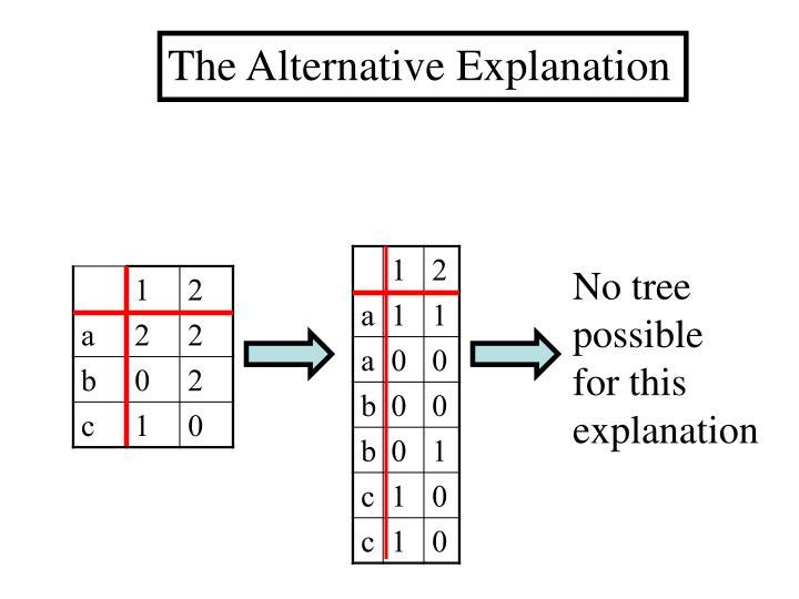 The Alternative Explanation