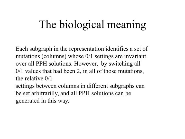 The biological meaning