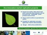 eco innovation market replication projects