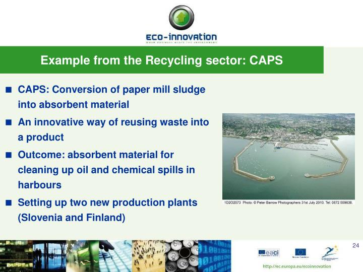 CAPS: Conversion of paper mill sludge into absorbent material