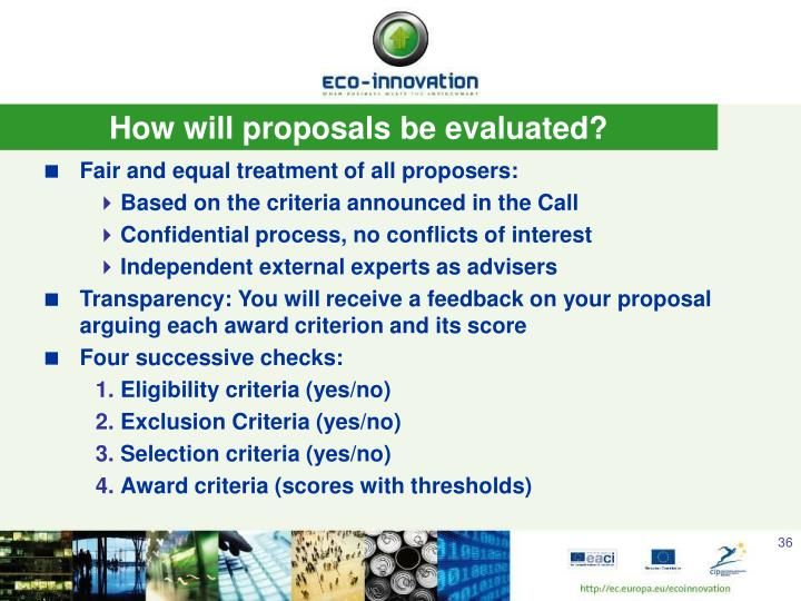 How will proposals be evaluated?
