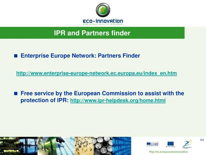 IPR and Partners finder