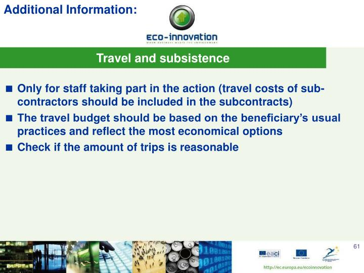 Travel and subsistence