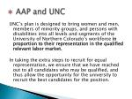 aap and unc