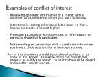 e xamples of conflict of interest