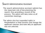 s earch administrative assistant