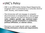 unc s policy