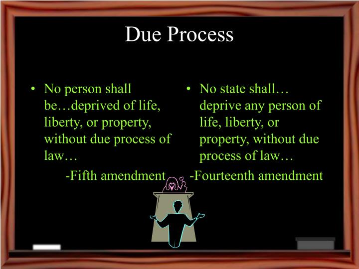No person shall be…deprived of life, liberty, or property, without due process of law…
