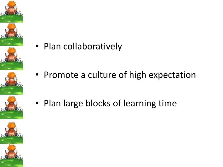 Plan collaboratively