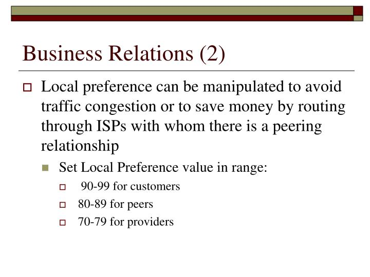 Business Relations (2)