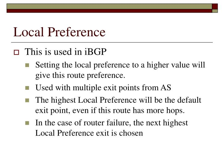 Local Preference