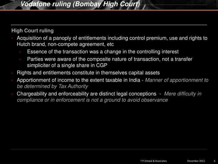Vodafone ruling (Bombay High Court)