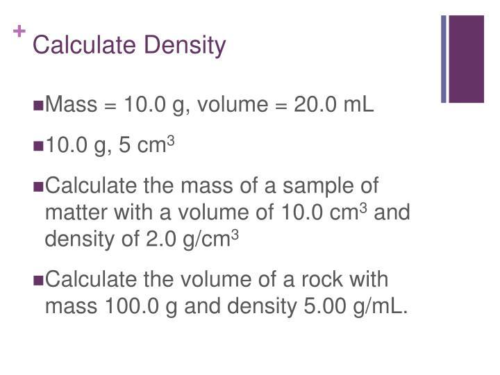 Calculate Density