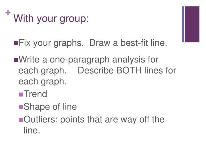 With your group: