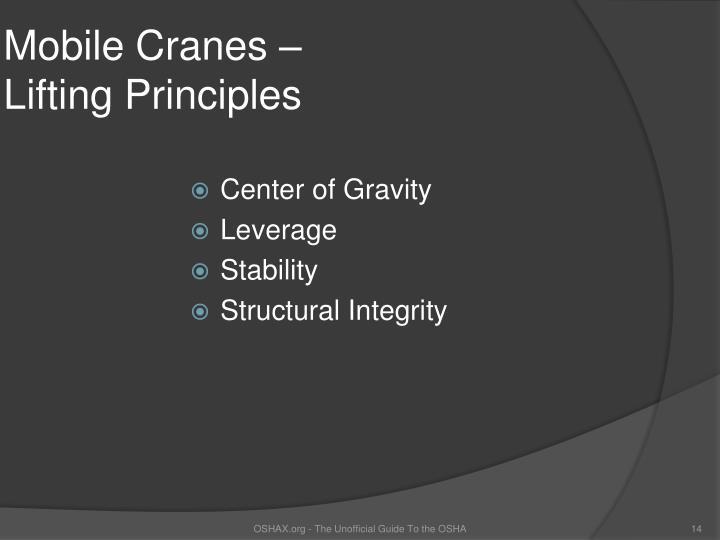 Mobile Cranes –