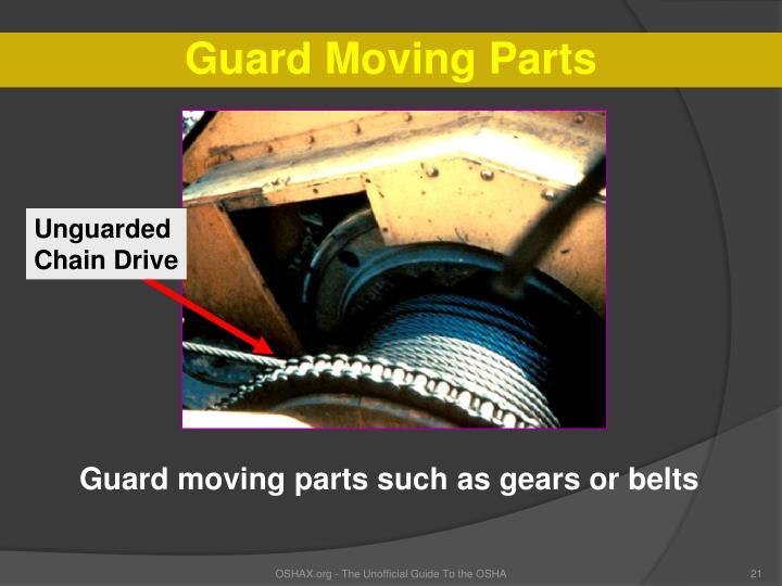 Guard Moving Parts