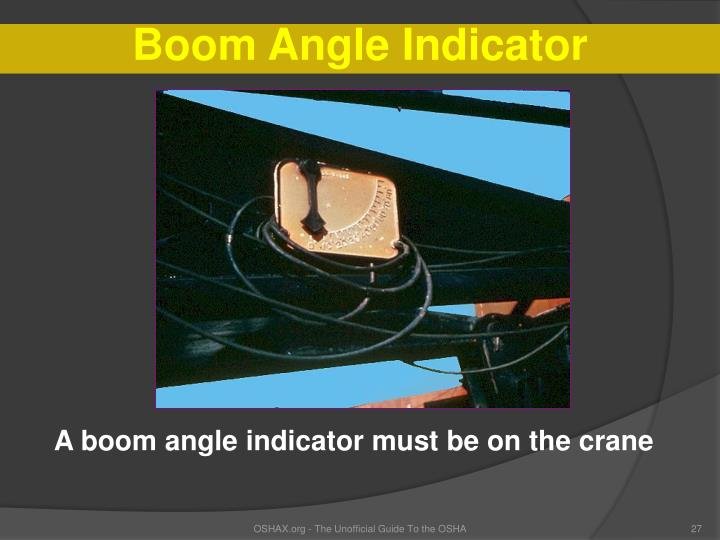 Boom Angle Indicator