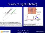 duality of light photon