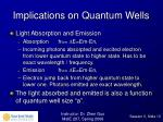 implications on quantum wells