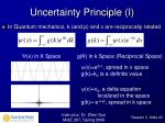uncertainty principle i