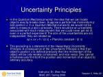 uncertainty principles