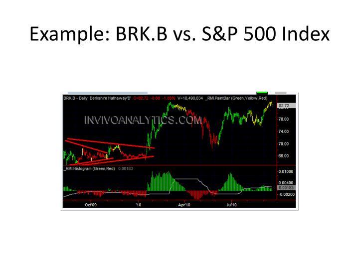 Example: BRK.B vs. S&P 500 Index