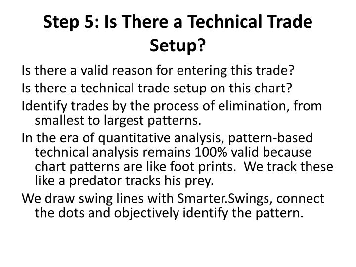 Step 5: Is There a Technical Trade Setup?