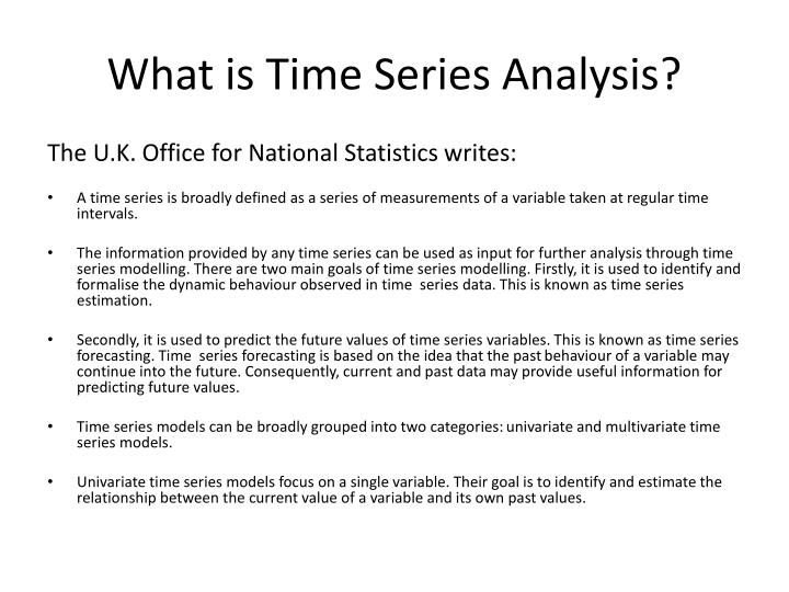 What is Time Series Analysis?