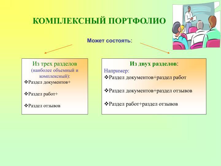 КОМПЛЕКСНЫЙ ПОРТФОЛИО