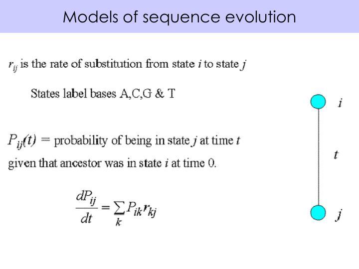 Models of sequence evolution