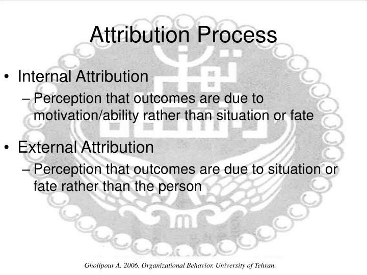 Attribution Process