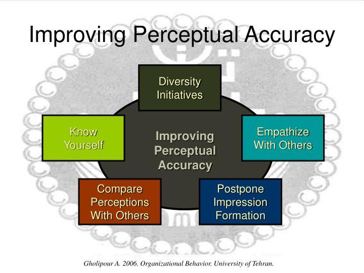 Improving Perceptual Accuracy